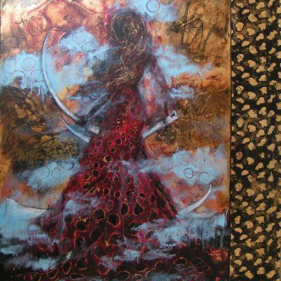 Grottens dans er en del af maleri serien Hulekvindens magi